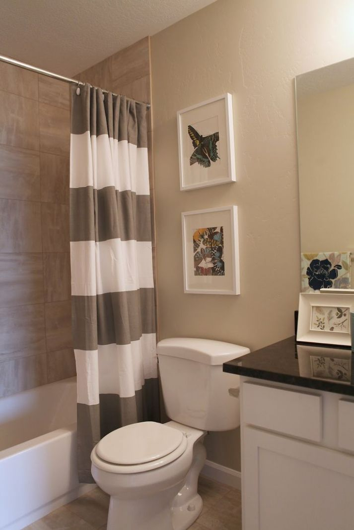 bathroom paint colors with brown tile - Google Search (With images ..