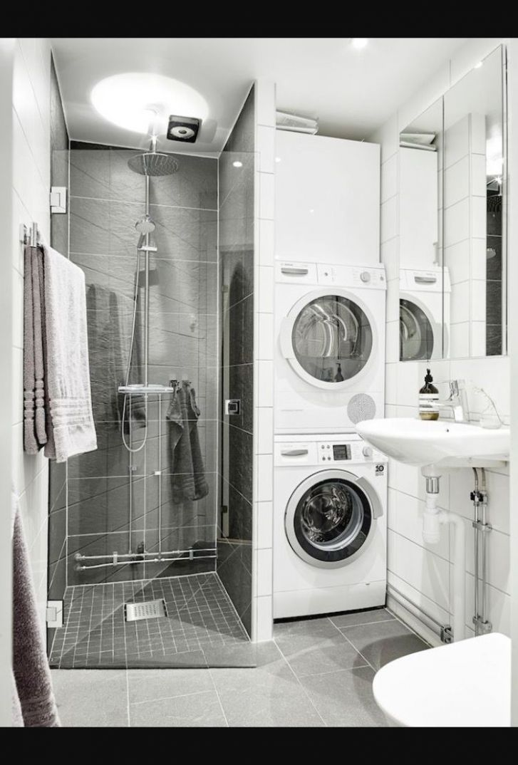 Bathroom (With images) | Laundry in bathroom, Bathroom shower ...