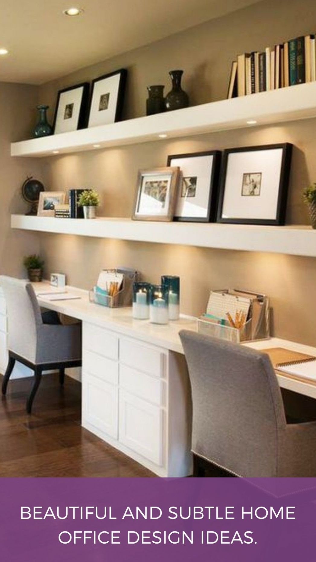 Beautiful and Subtle Home Office Design Ideas (With images ...