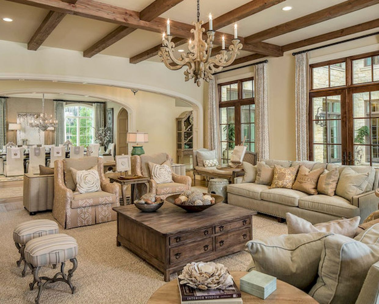 Beautiful Country Living Room Decor Interior And Decoration ...
