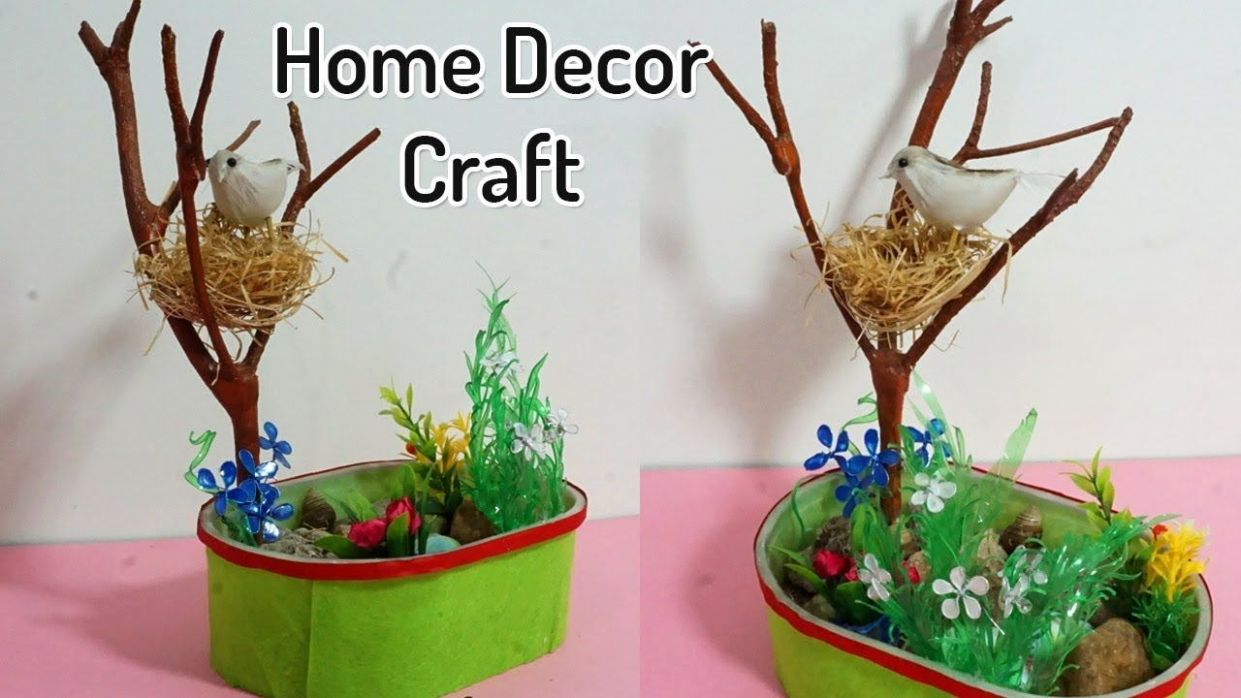 Beautiful DIY Home Decoration from Waste Materials | Birds Nest ..