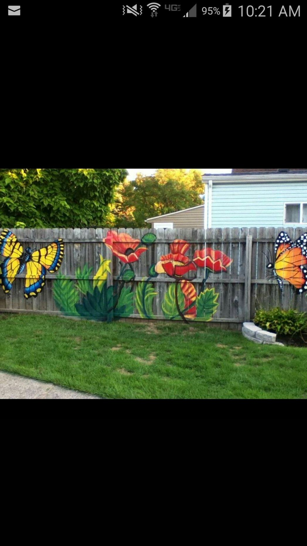 Beautiful | Garden fence art, Backyard fences, Garden mural