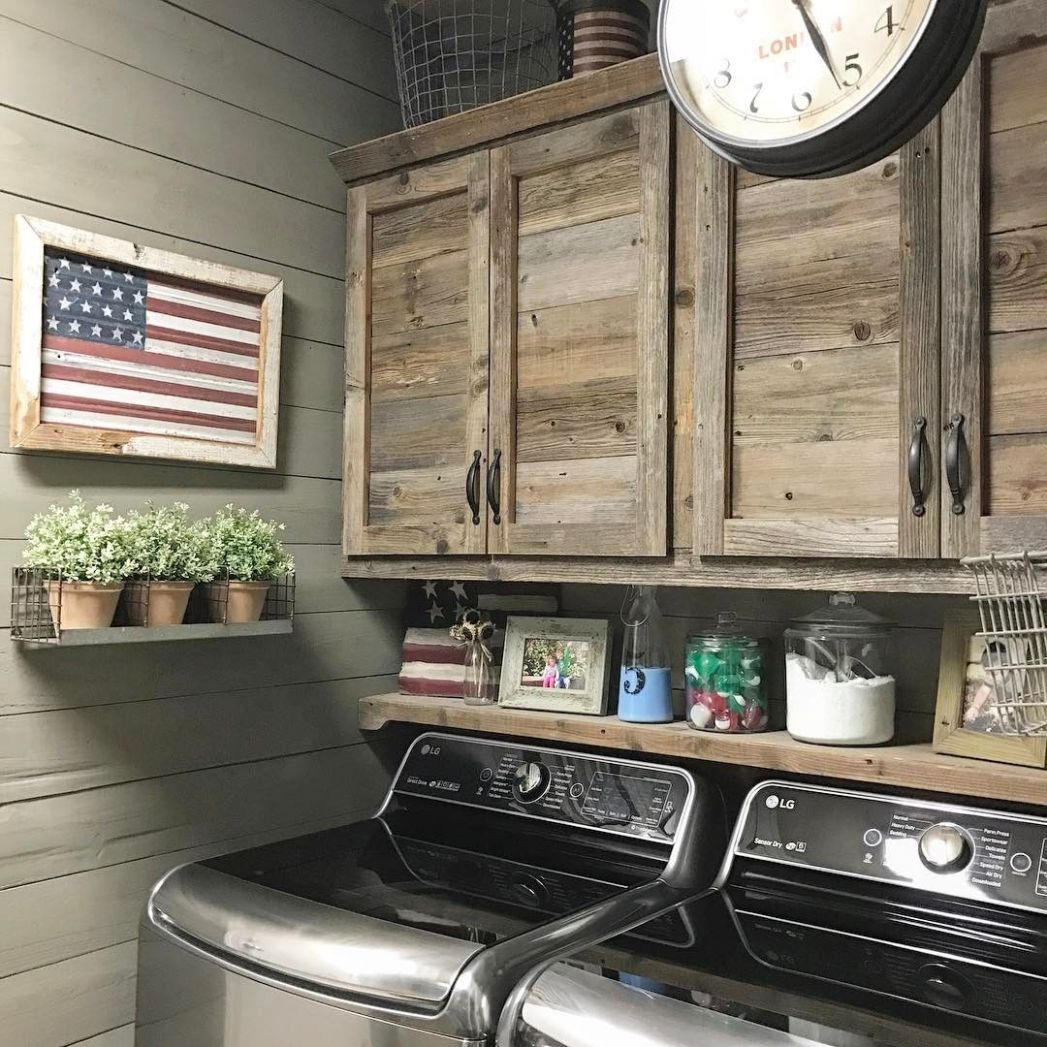 Beautiful rustic laundry room. (With images) | Rustic laundry ...