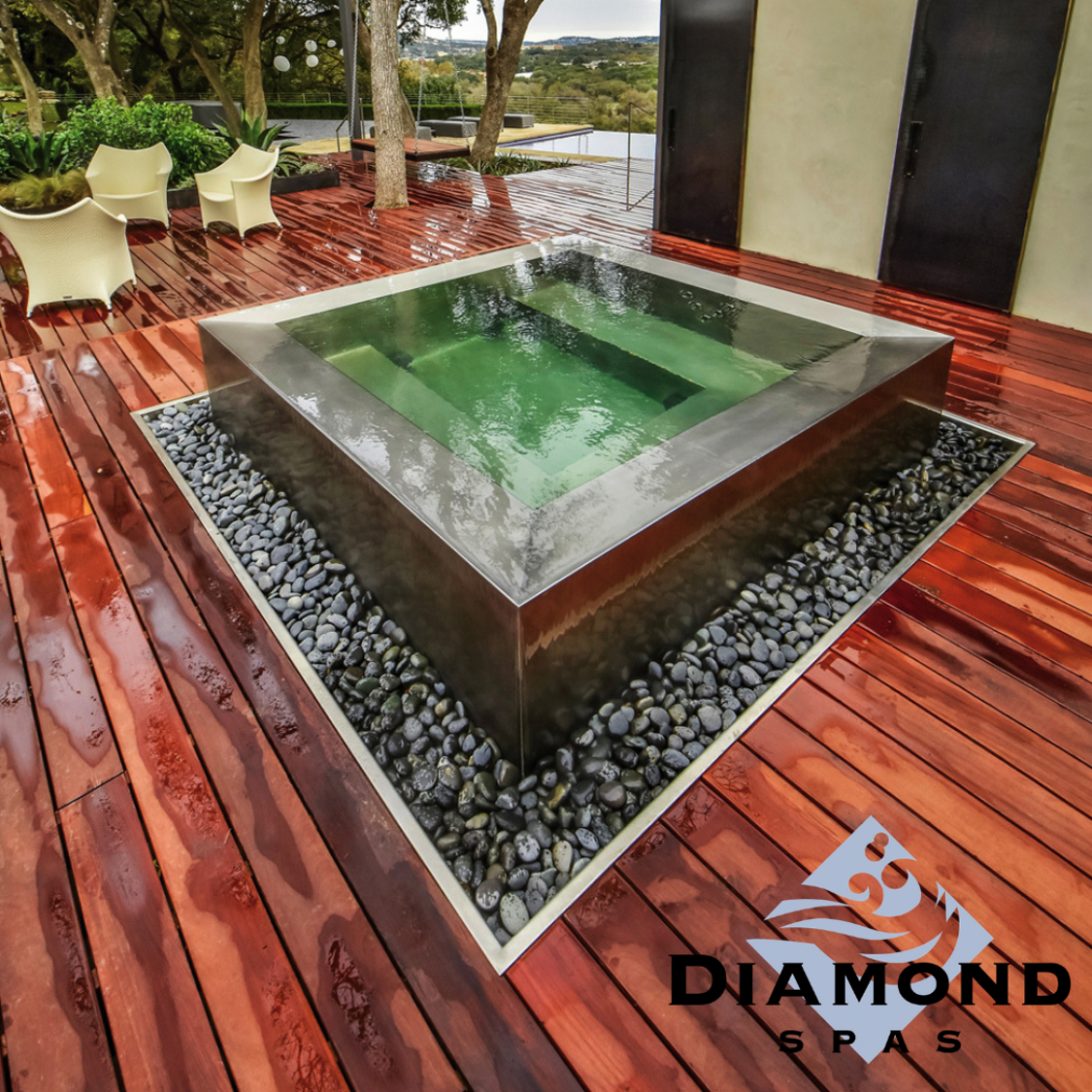 Beautiful water feature? Or relaxing hot tub? Why not both ..