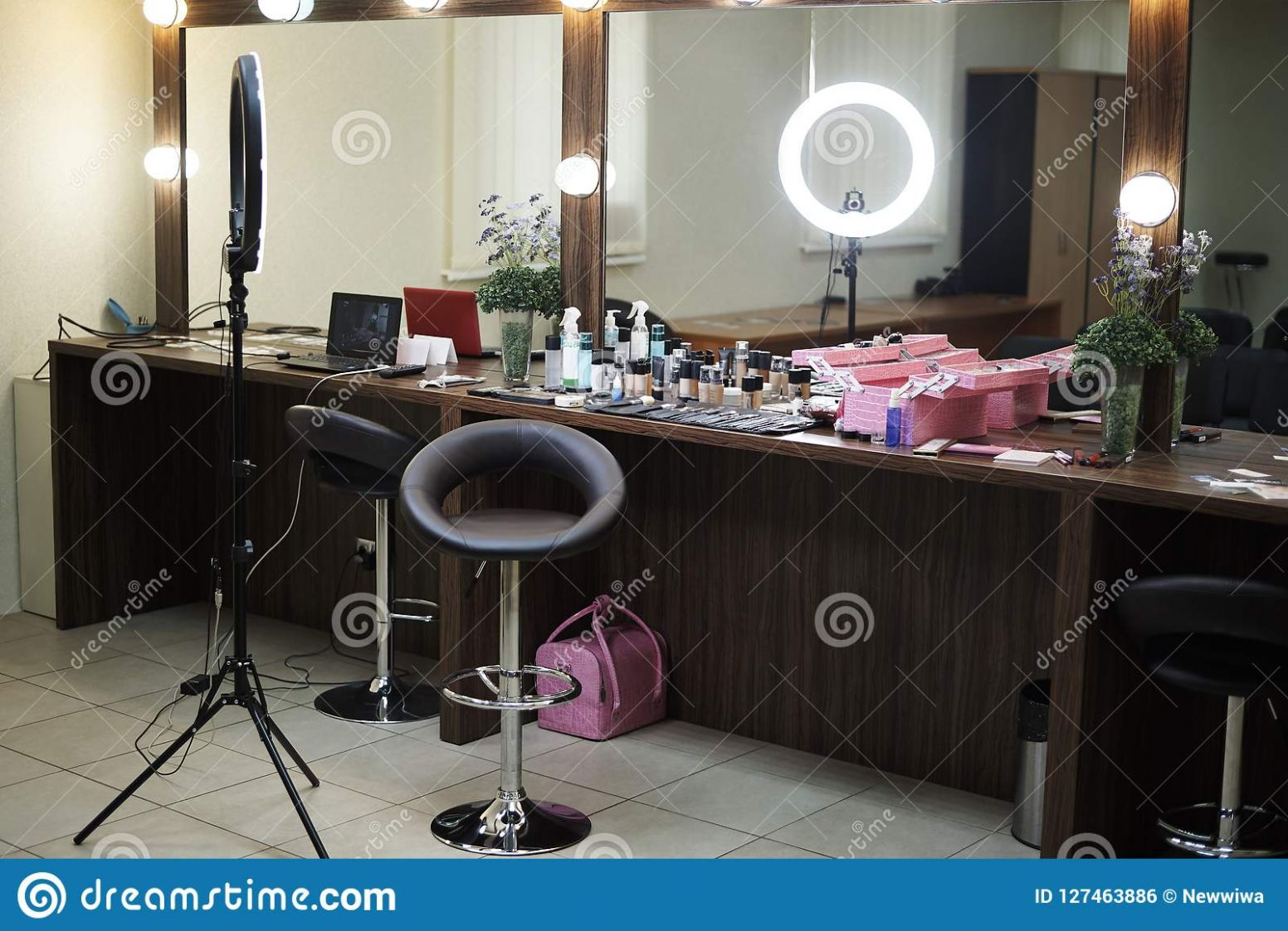 Beauty Office With A Make-up Room Stock Photo - Image of applying ...