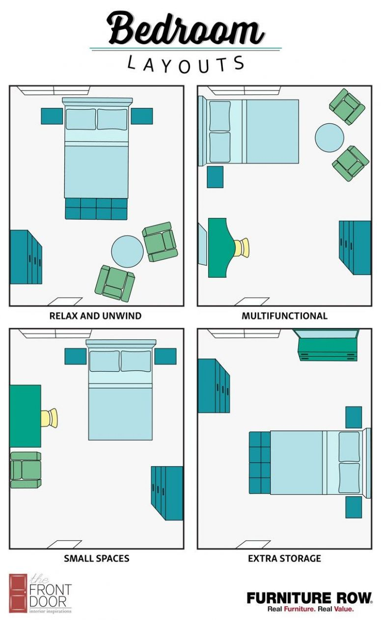 Bedroom Layout Guide - The Front Door By Furniture Row (With ..