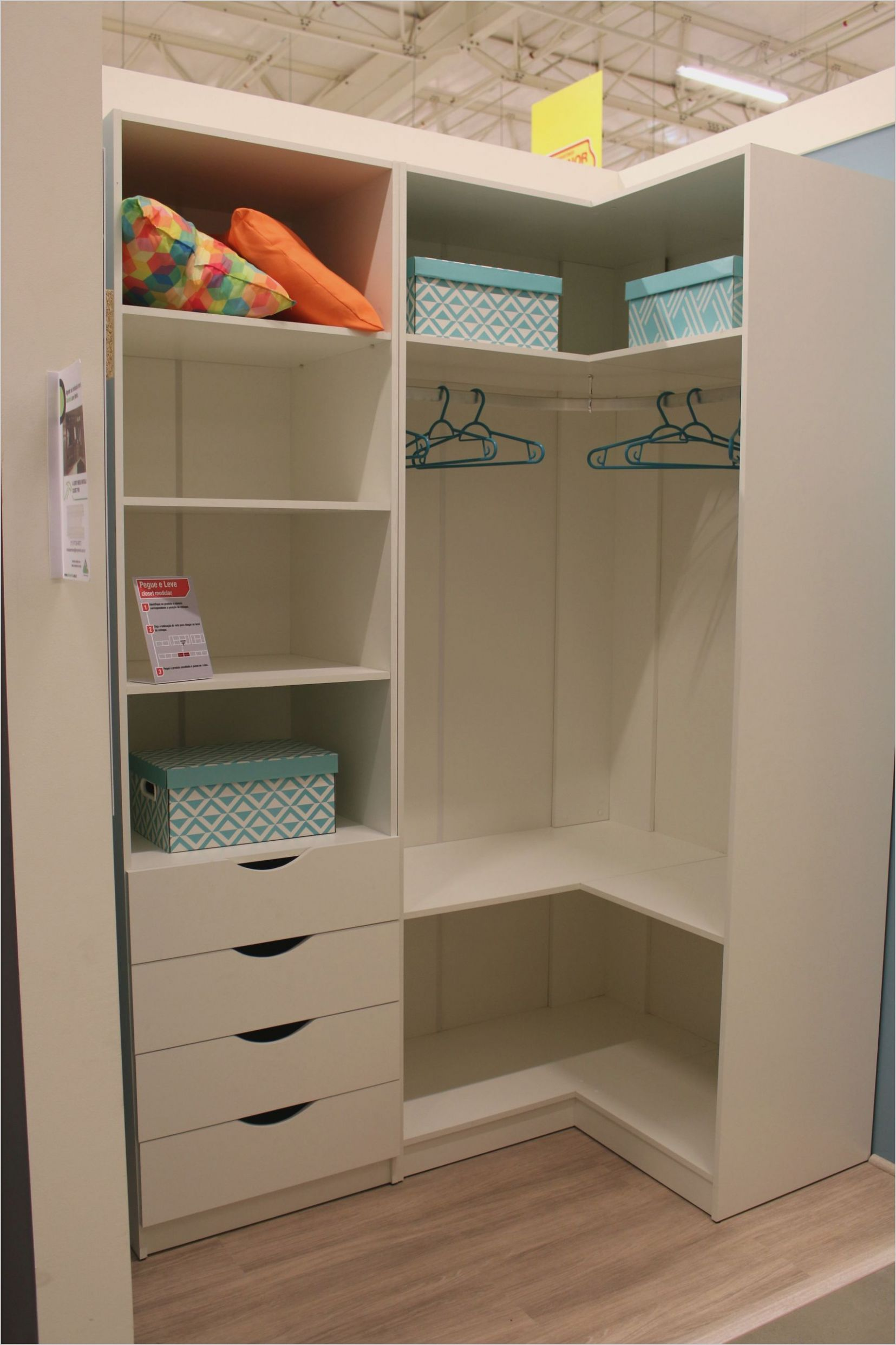 Bedroom Open Corner Closet Ideas in 10 | Corner wardrobe closet ..