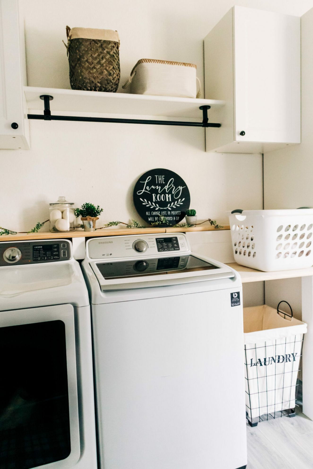 Before + After Laundry Room Makeover   CRAZY LIFE WITH LITTLES ..