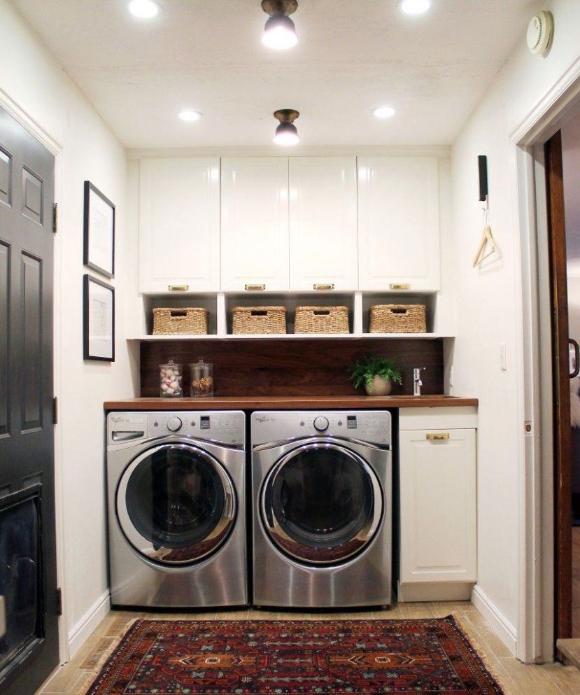 Before and After: A Bathroom Turned Laundry Room (With images ...