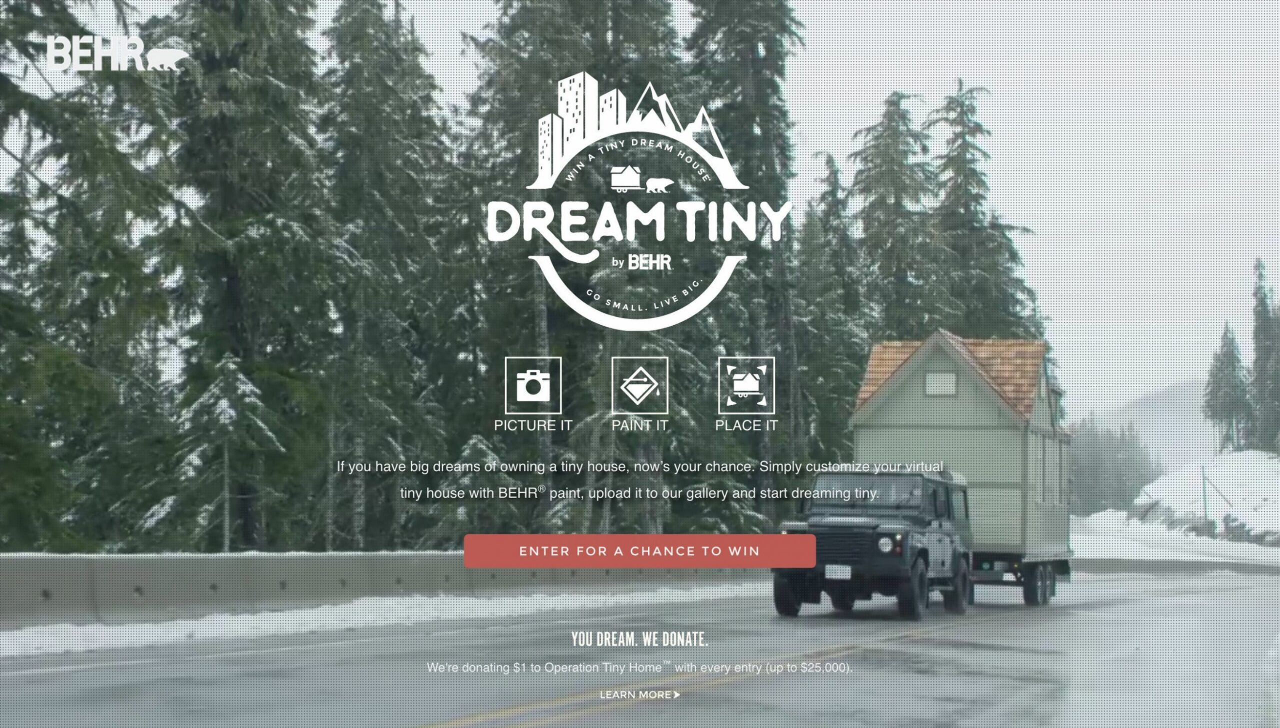 Behr Paint Is Making Huge Dreams Come True With Tiny House Giveaway