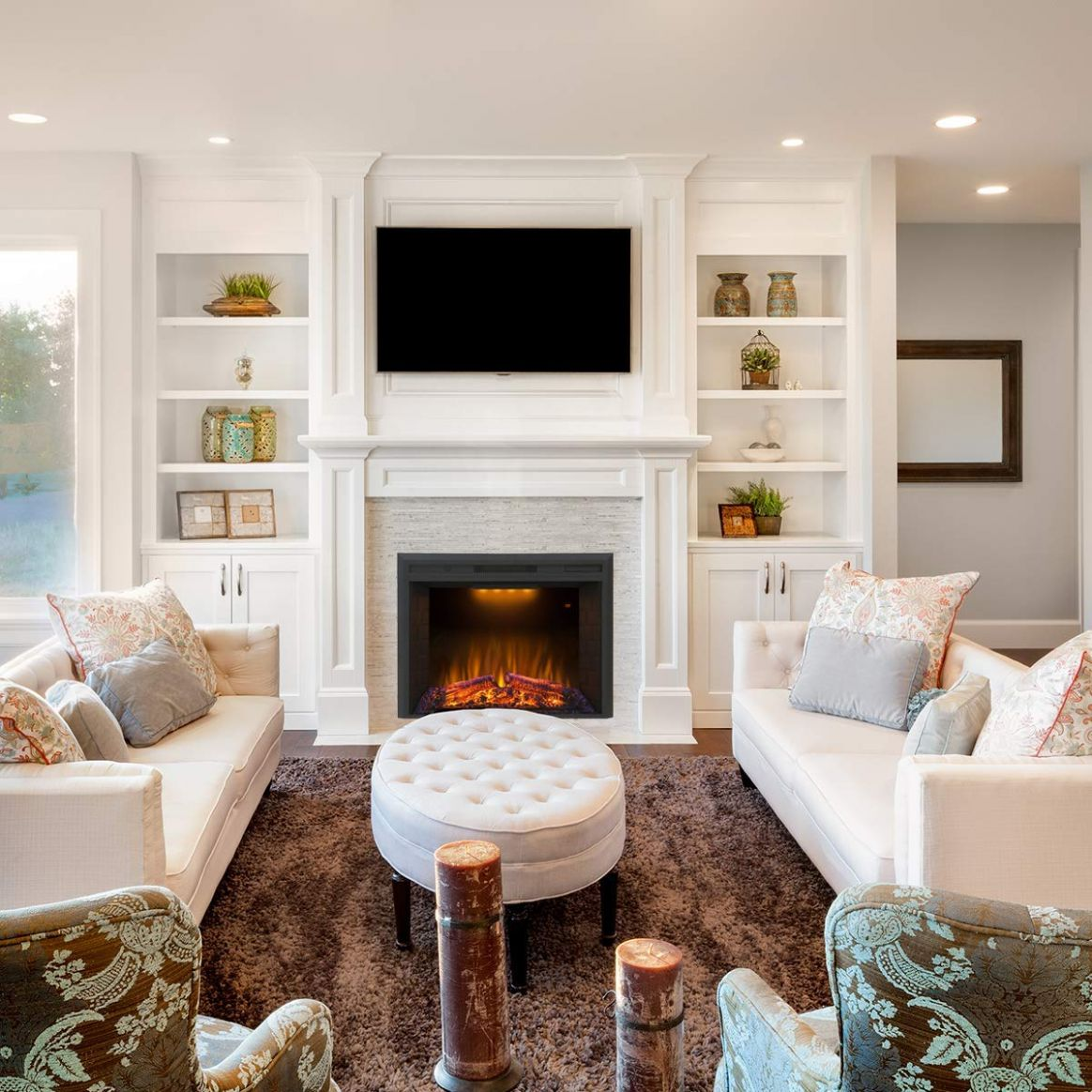 Best Electric Fireplace for the Winter Season - living room ideas electric fireplace