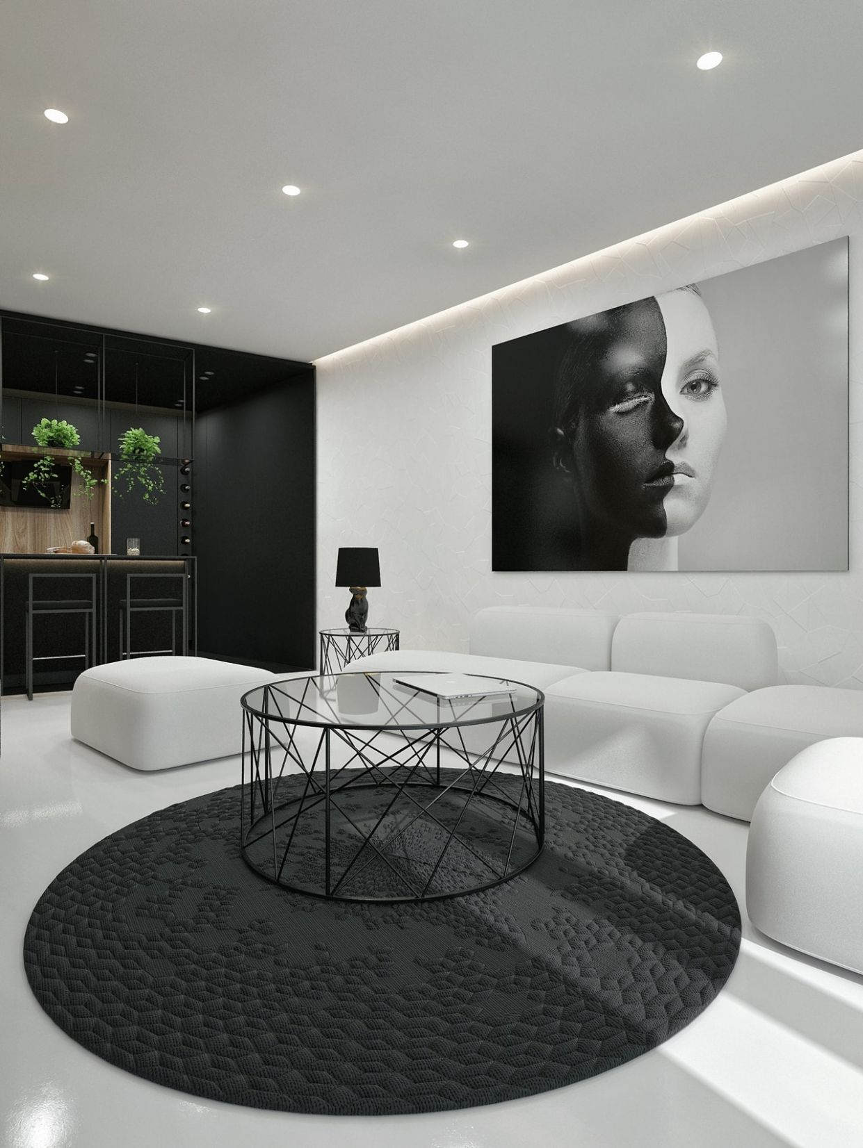 Black And White Interior Design Ideas: Modern Apartment by ID ..