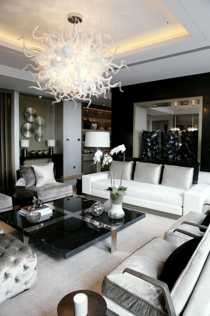 Black And White Living Room Furniture What Colour Curtains Go ..