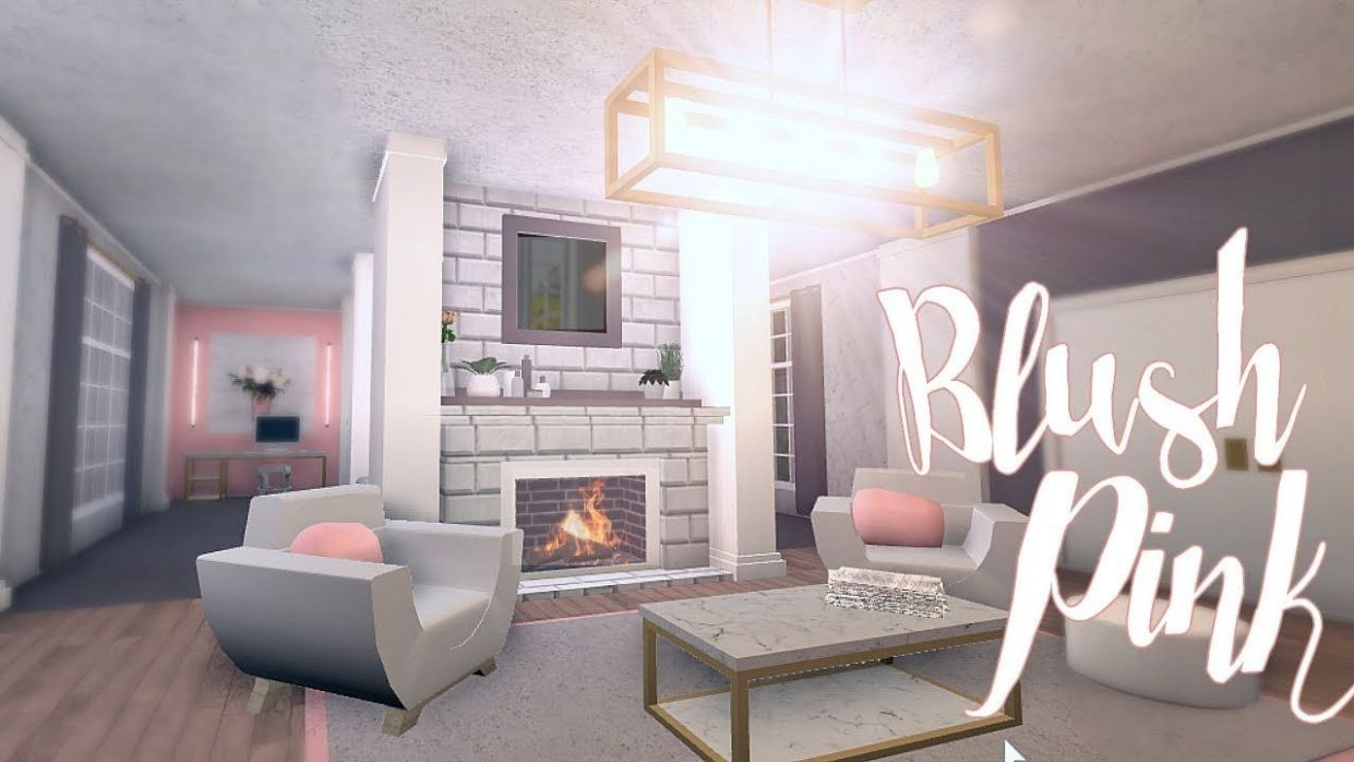 Bloxburg: Blush Pink Room 11K. Small Living Room Decorating Ideas ..