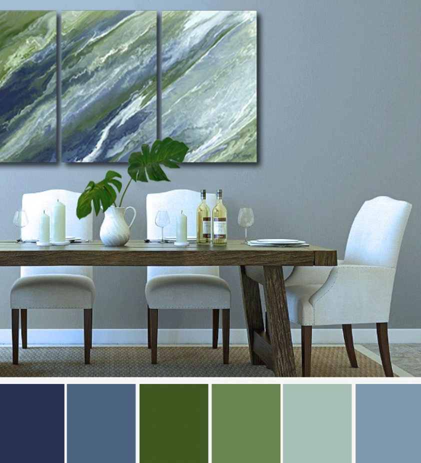 blue and green dining room ideas in 11 | Living room green ...