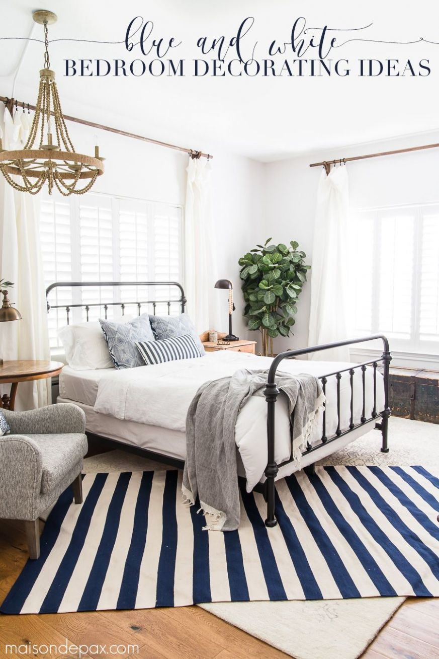 Blue and White Bedroom Ideas for Summer | White bedroom decor ...