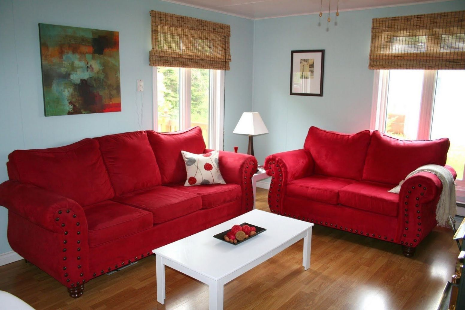 Blue Red Living Room Ideas (With images) | Red couch living room ..