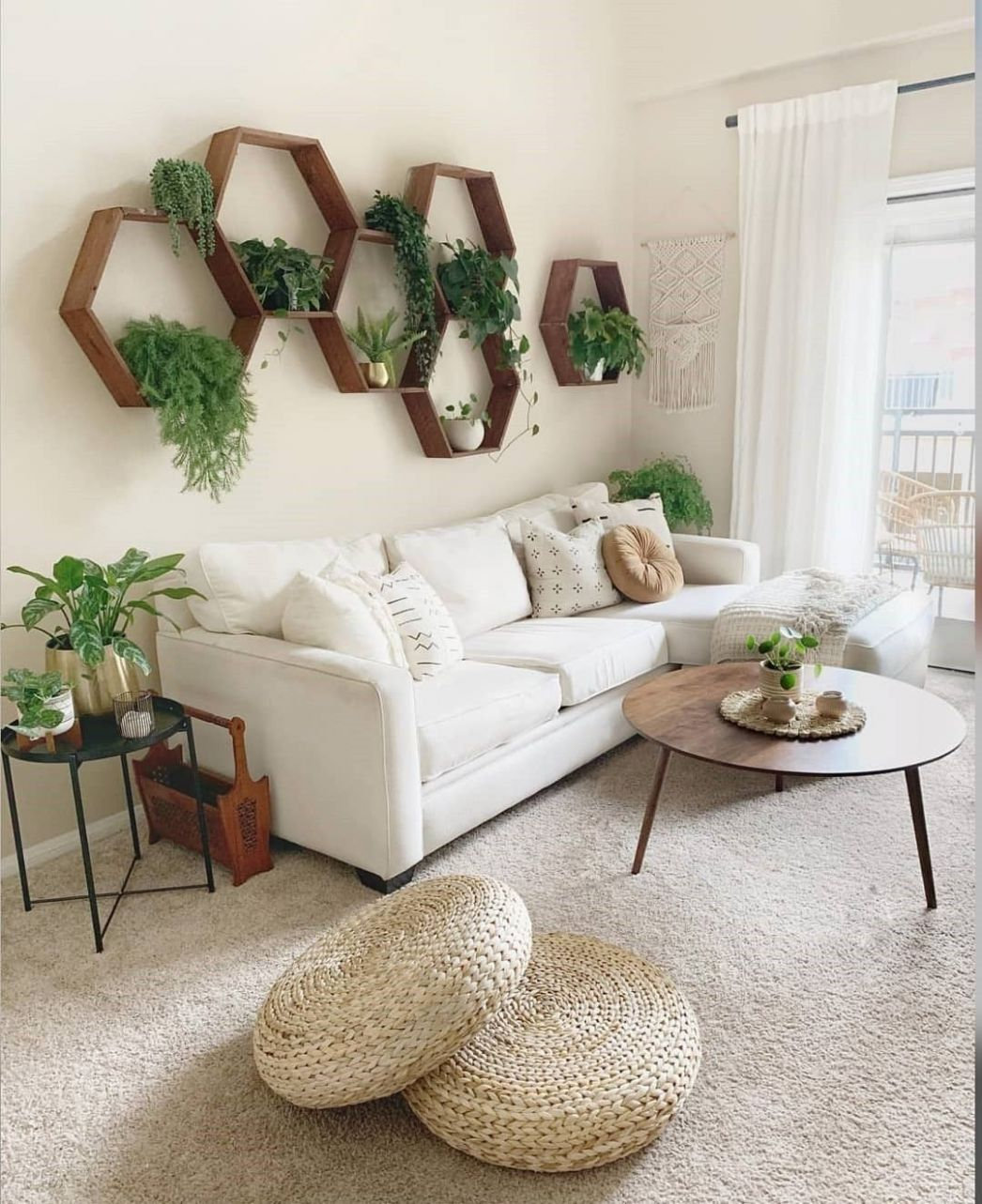 Boho Chic Home Decor Plans and Ideas | Wall decor living room ...