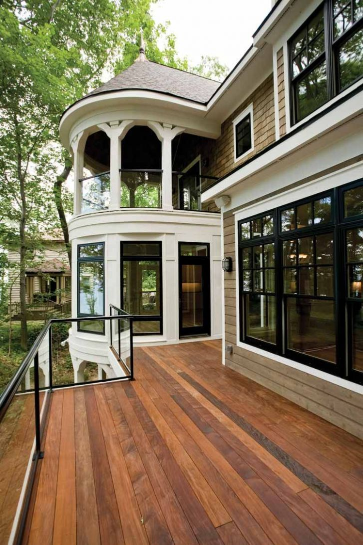 Breakfast nook down stairs and master bedroom walk out porch ...