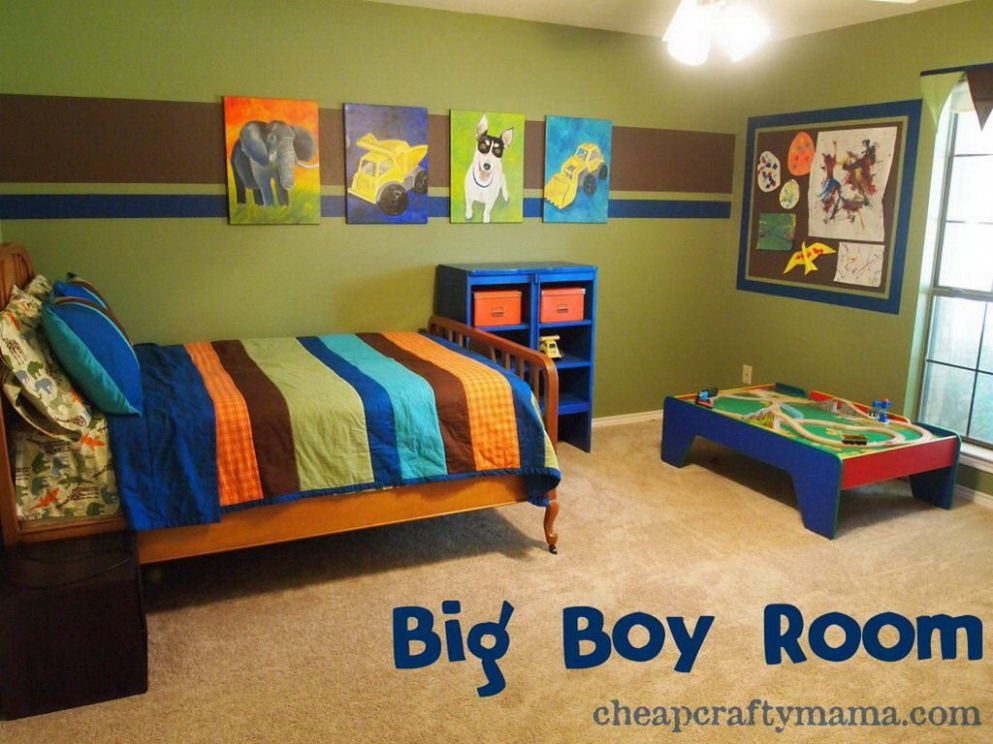 Bright colours boys room | Small boys bedrooms, Boy toddler ..
