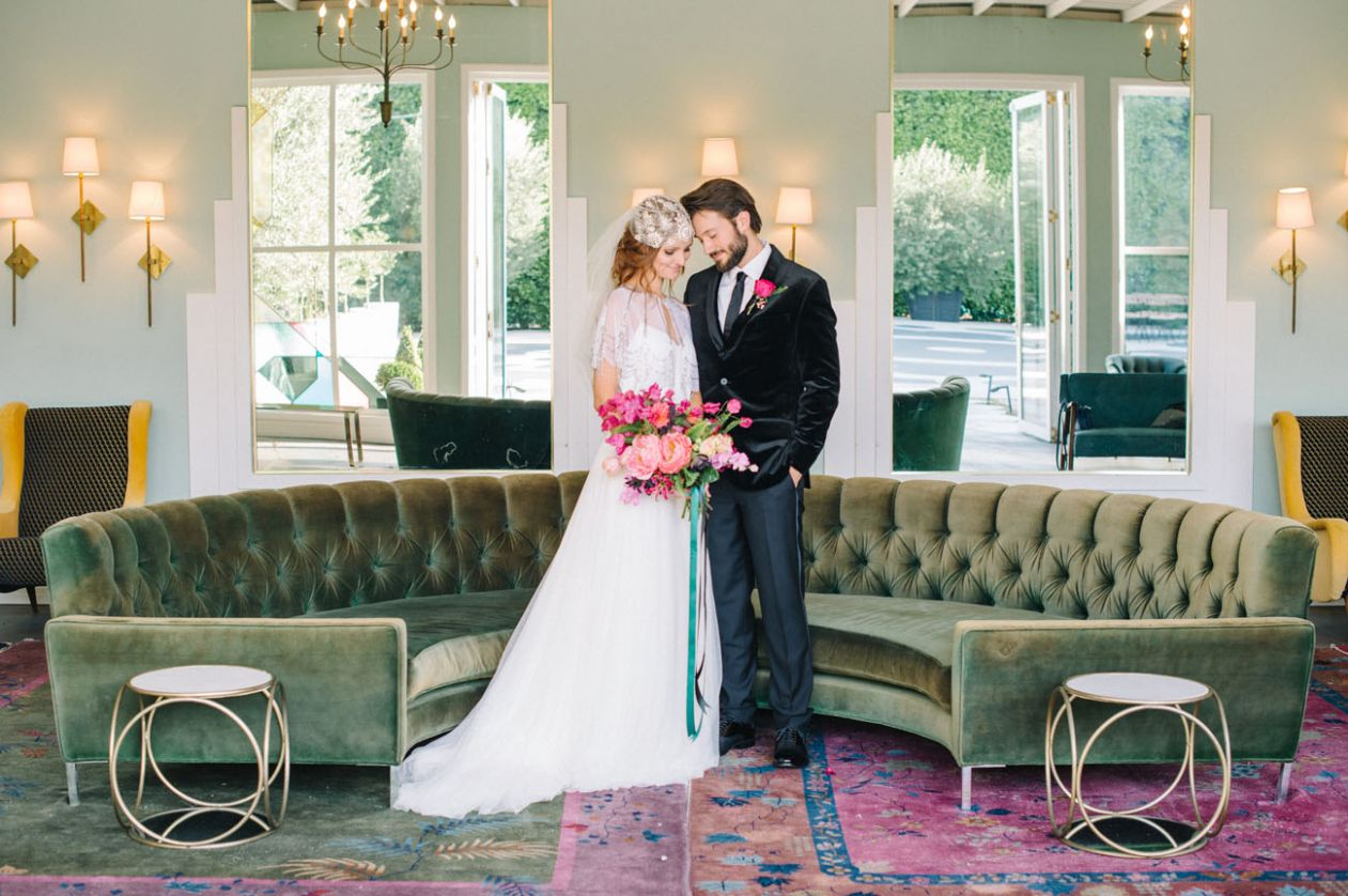 Bright + Modern Wedding Inspiration at The Fig House | Green ..