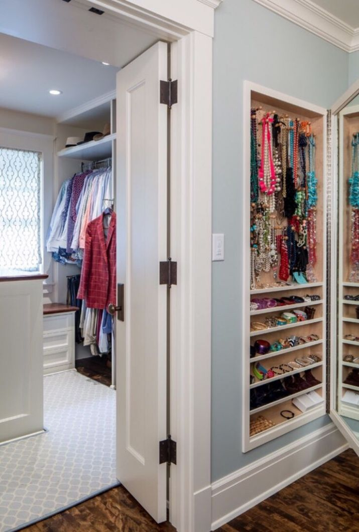 Built-In Jewelry Cabinet | Home, Closet inserts, House - closet jewelry ideas