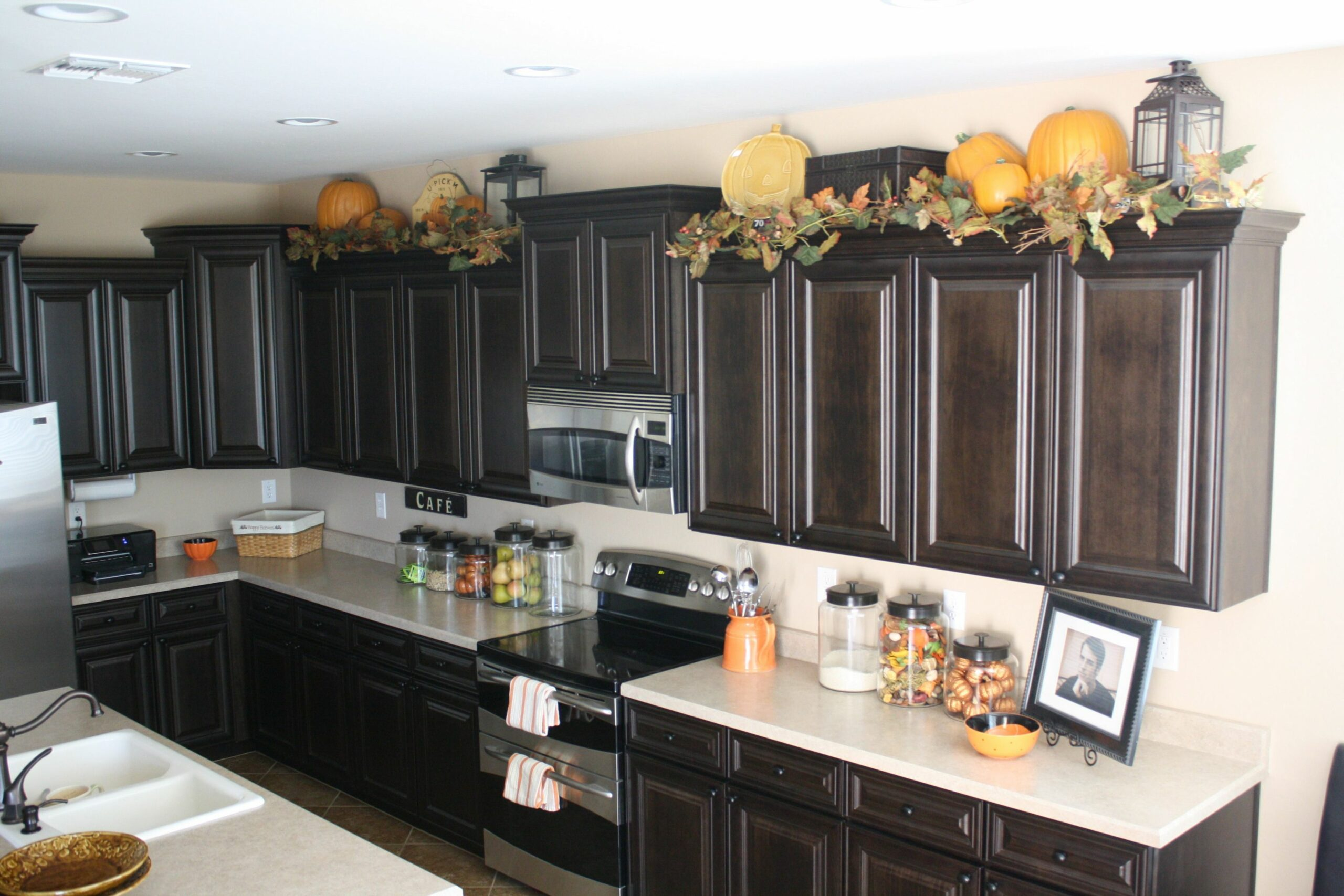 Cabinet Kitchen Above Decor Lanterns On Top Of Extremely Ideas For ...