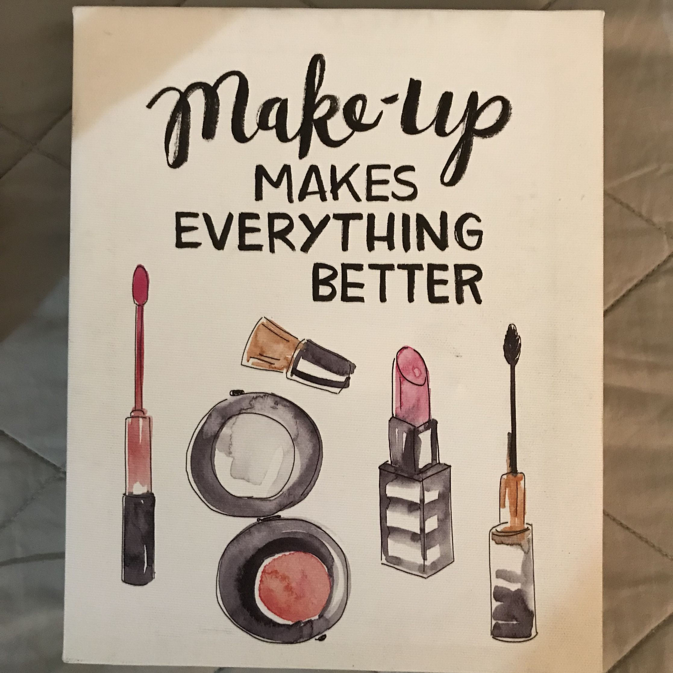 Canvas picture with makeup on it- great for any..
