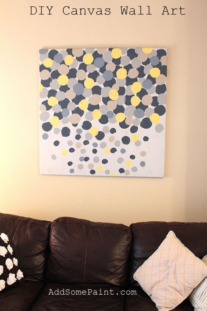 canvas wall art diy painted (With images) | Diy wall painting ..