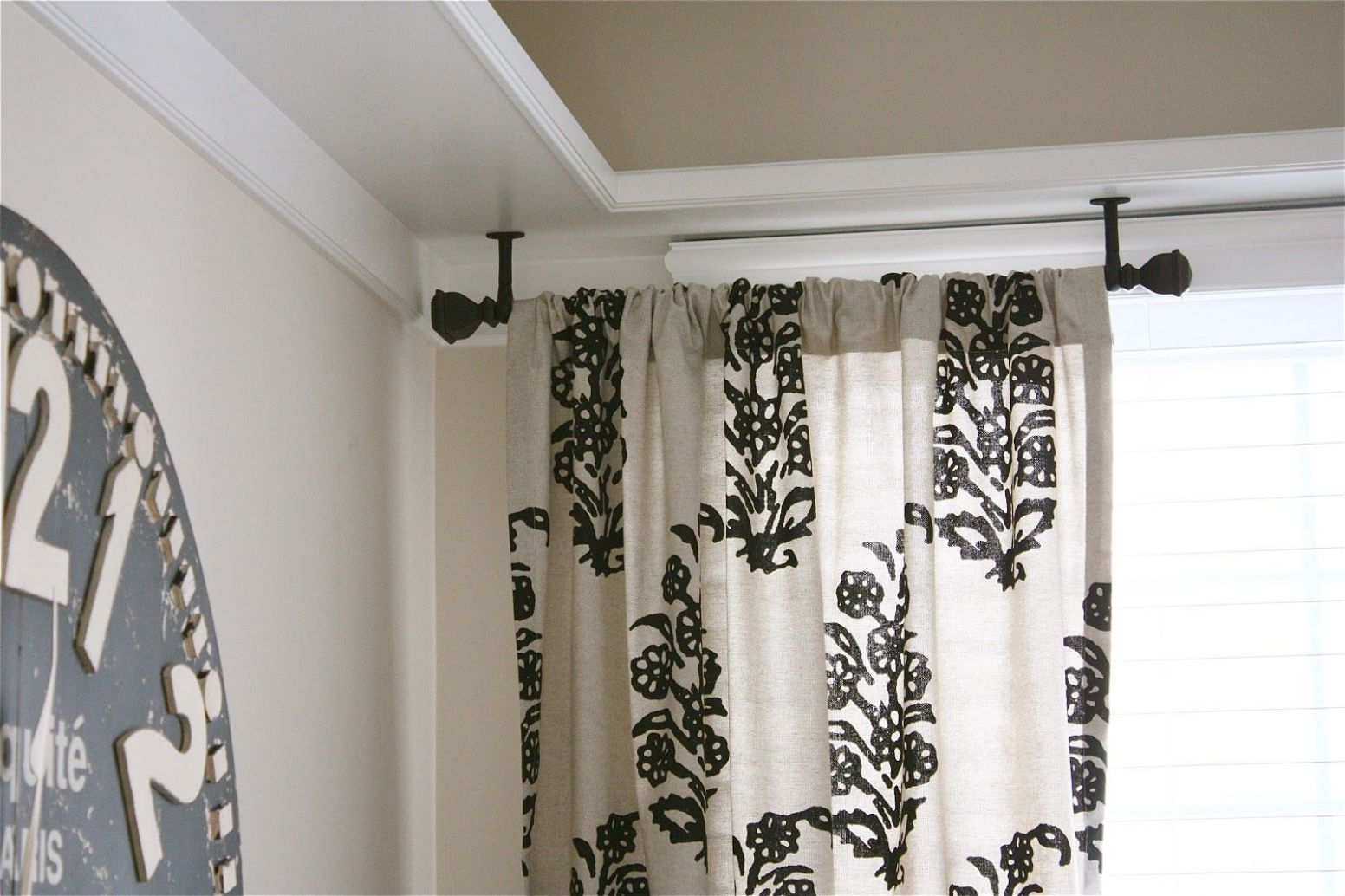 Ceiling Mount Drapery Trick (With images) | Ceiling mount curtain ..