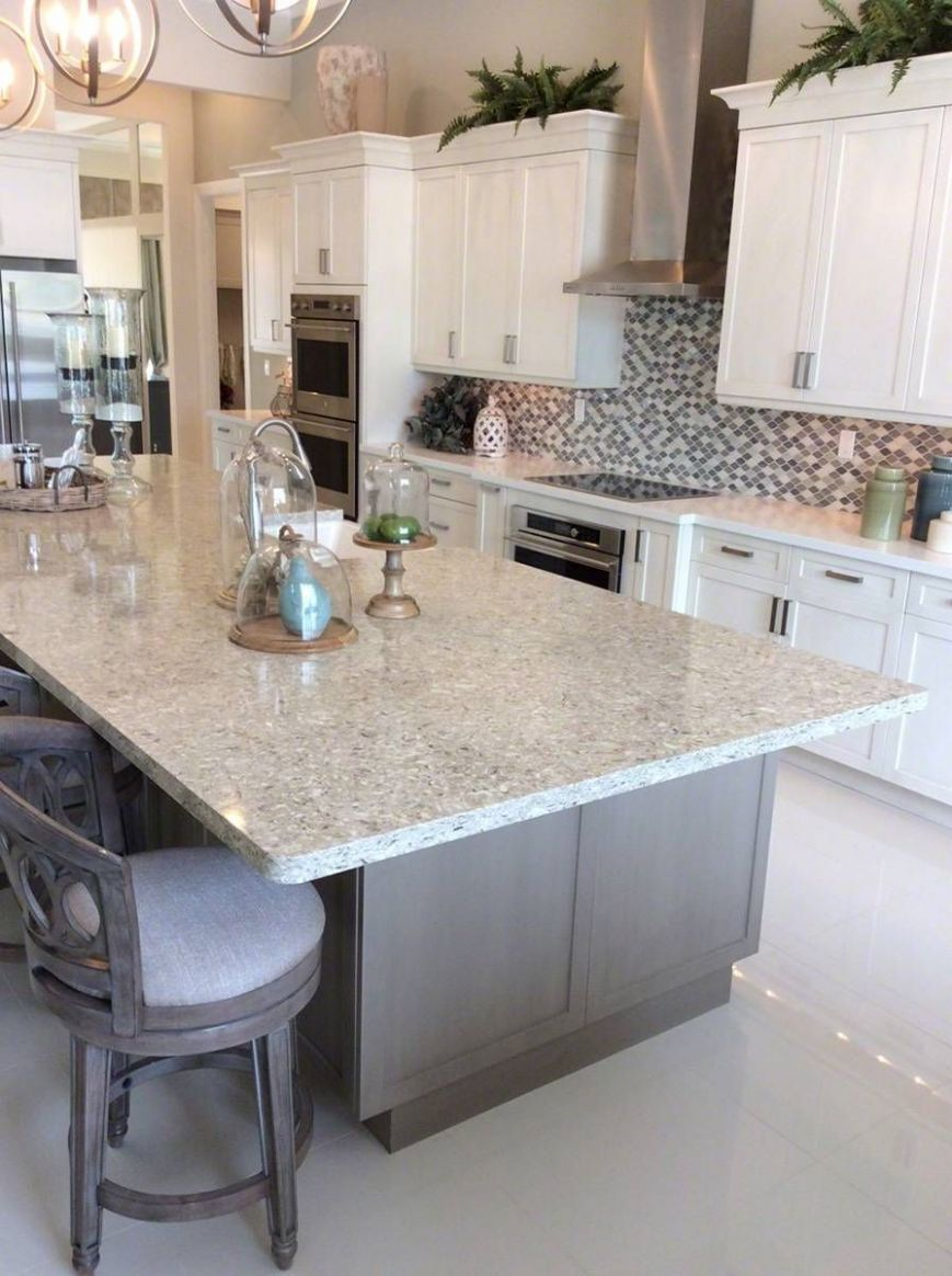CHAKRA BEIGE™ QUARTZ (With images) | Beige kitchen, Kitchen ..