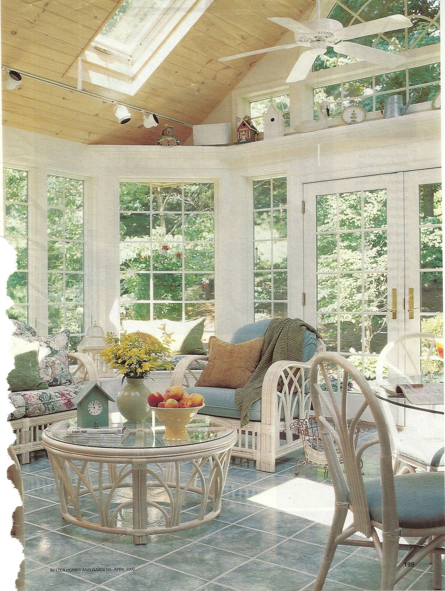 Change to a lower flat ceiling and full length windows (With ..
