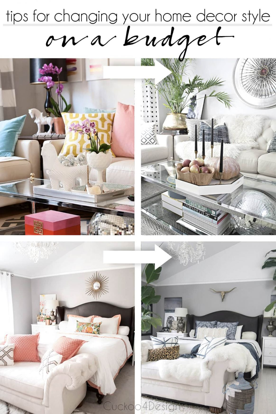 Changing your home decor style on a budget | Cuckoo11Design