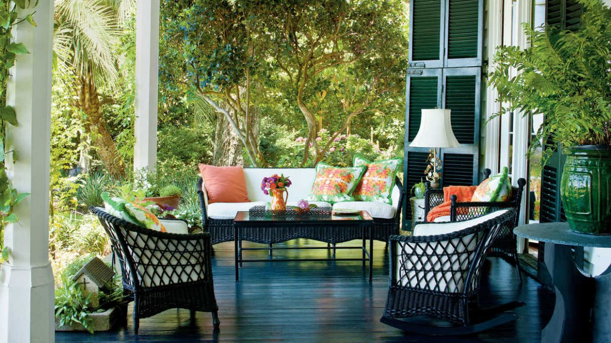 Charming Southern Front Porch Living Design Ideas Style Porches ..
