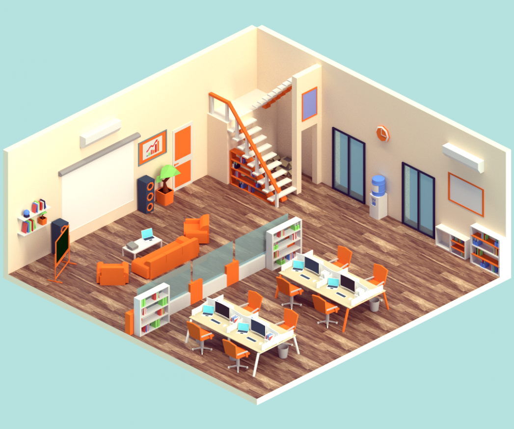 "Check out this @Behance project: ""Isometric Office"" https://www ..."