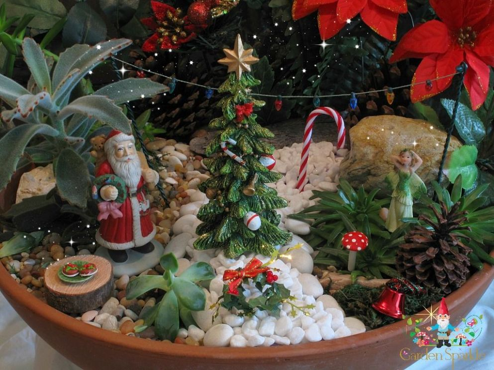 Christmas Fairy Garden (With images) | Christmas fairy garden ...