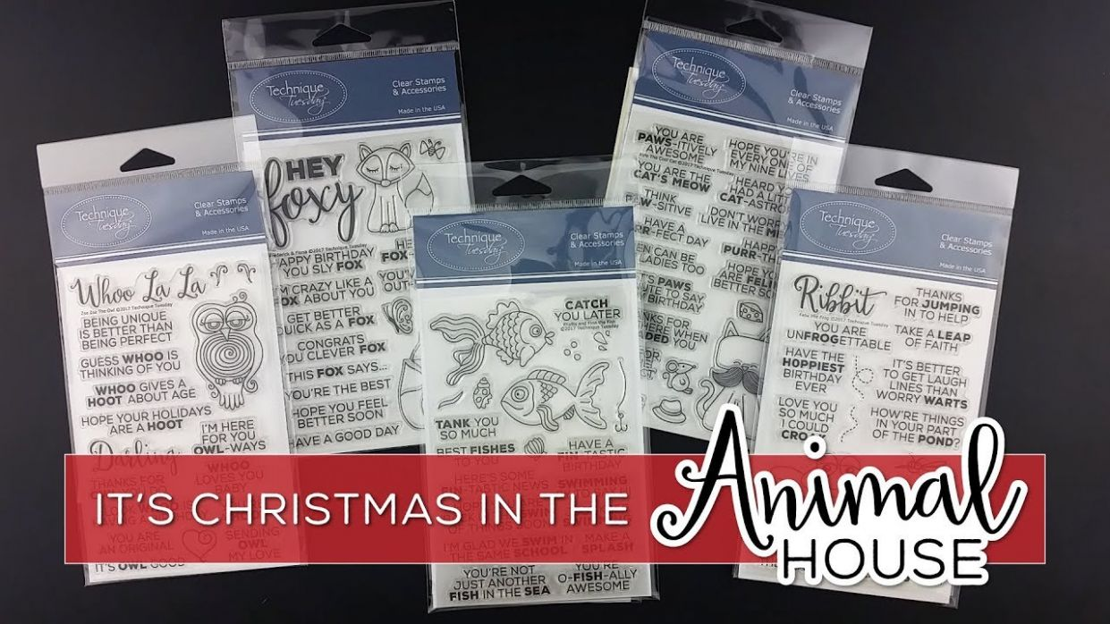 Christmas In The Animal House - Inspiration Video - Technique Tuesday - animal house inspiration