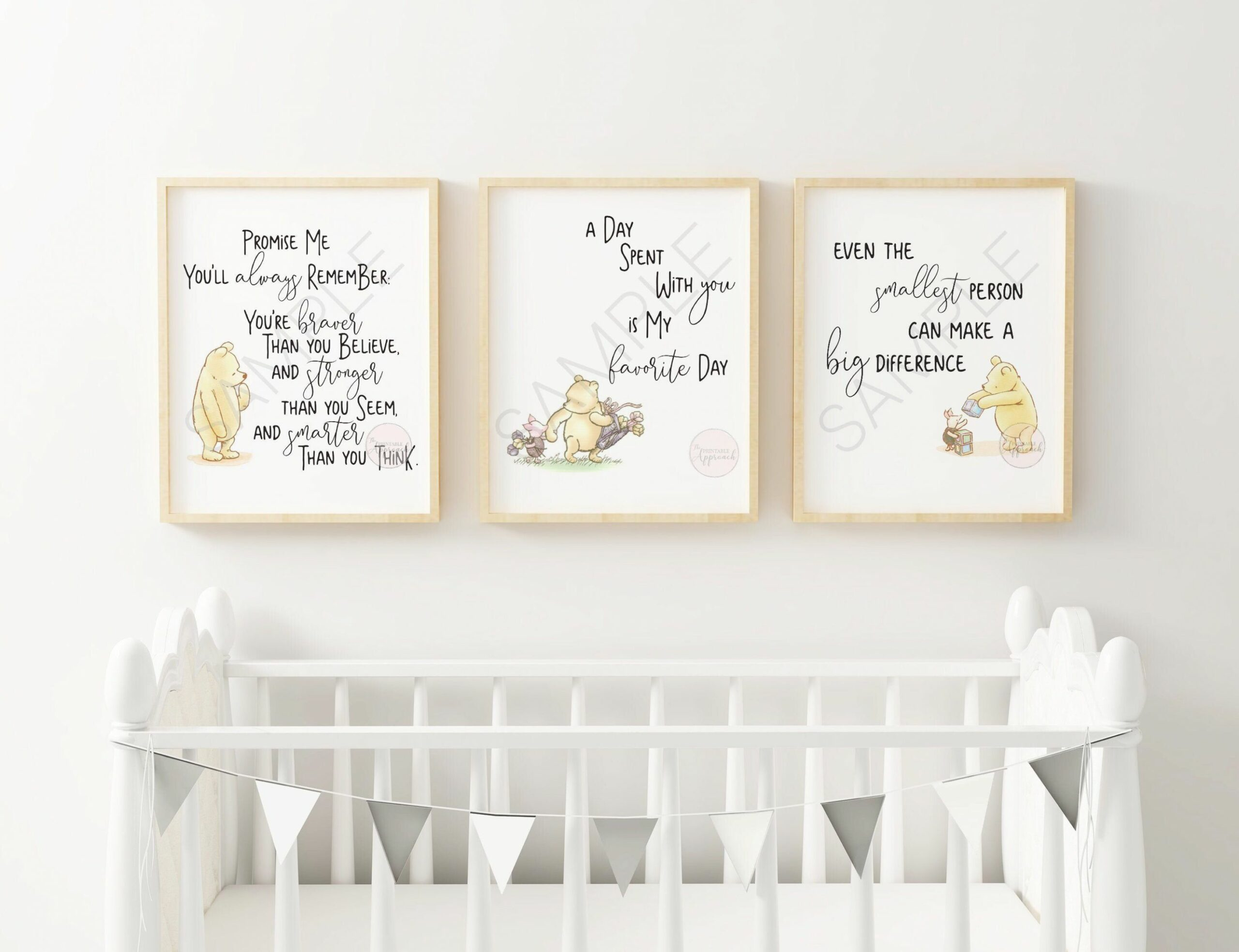 Classic Winnie The Pooh Quote Nursery Prints Color Collection 10 ...