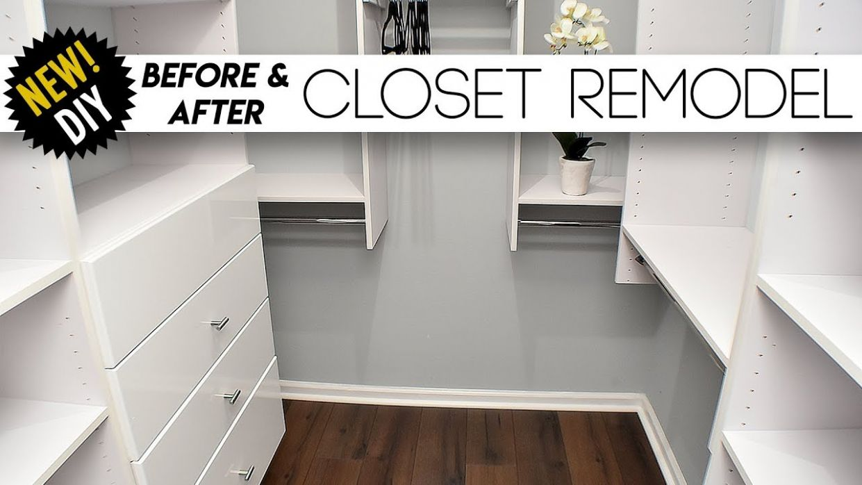 CLOSET Remodel // Surprising The Parents With A New Closet // Small closet  Ideas - closet remodel ideas