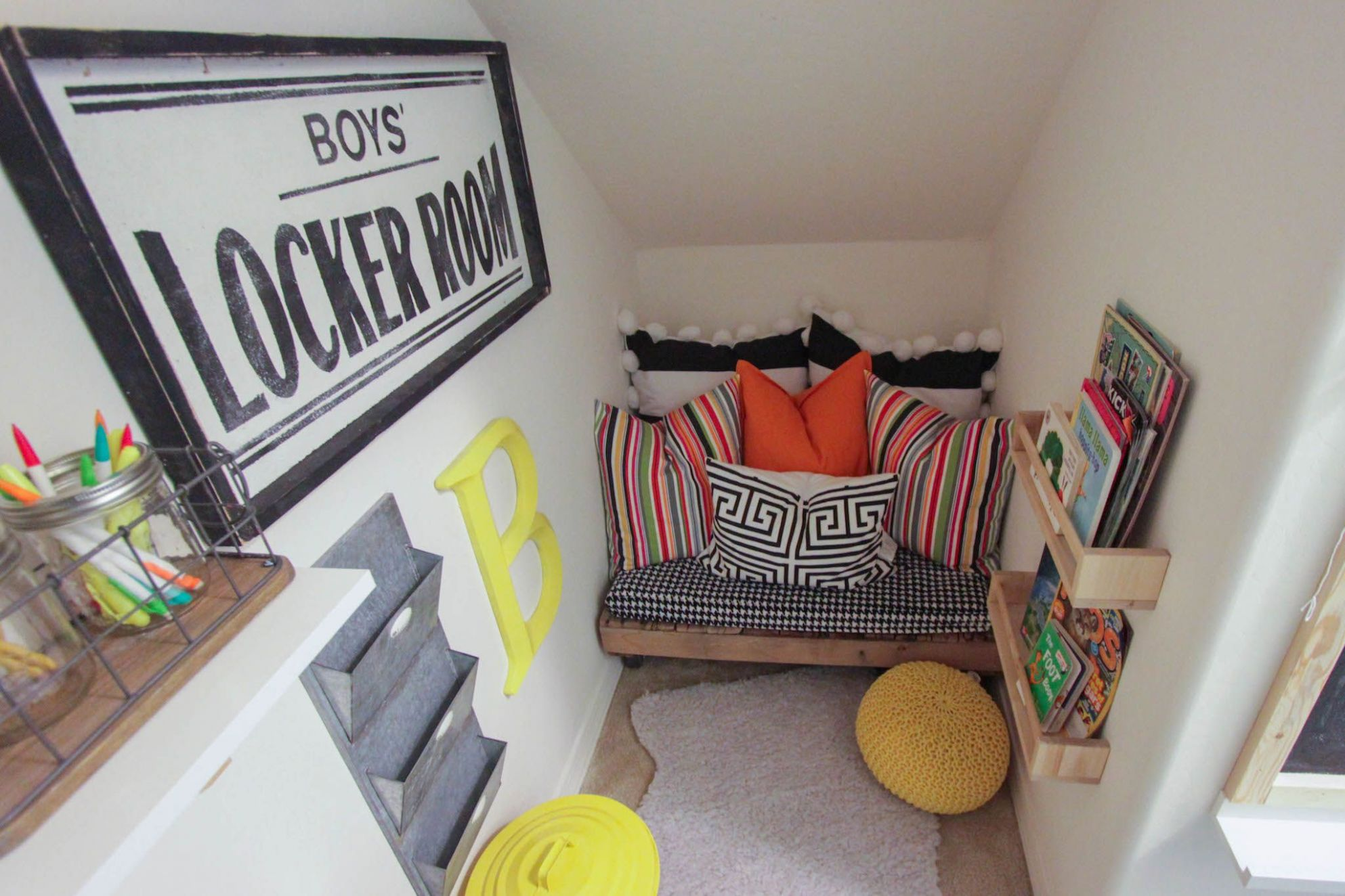 Closet-Turned-Playroom | Under stairs playroom, Under stairs nook ...