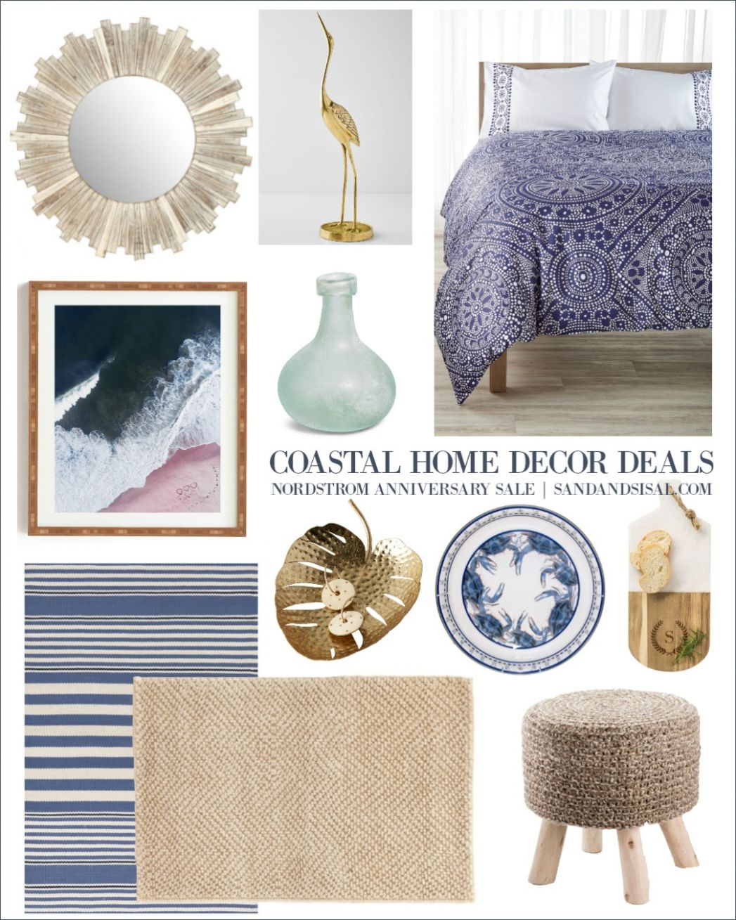 Coastal Home Decor Deals - Nordstrom Anniversary Sale- Sand and Sisal