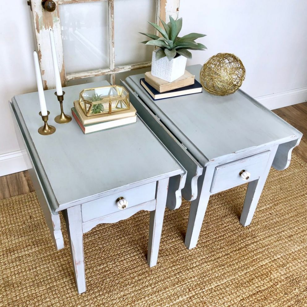 Coffee Table Distressed Baby Blue Room – Projecthamad