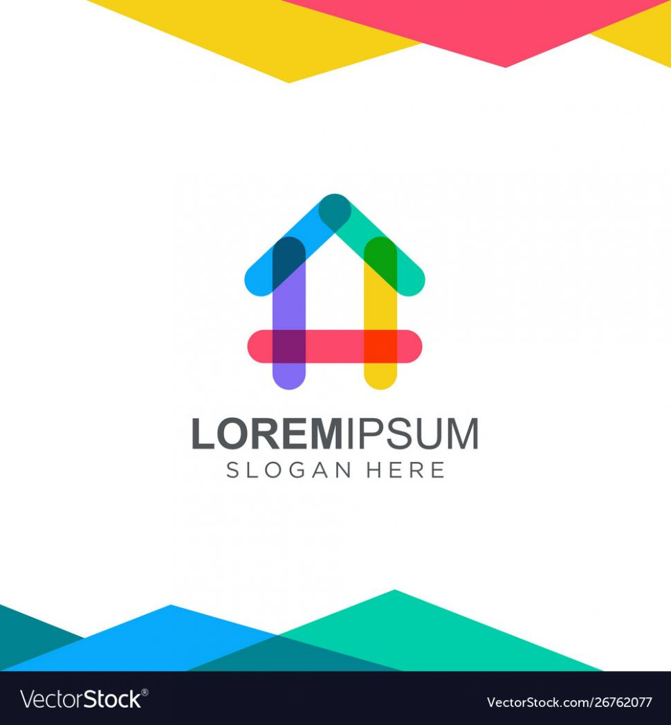 Colorful house logo design inspiration - house logo inspiration