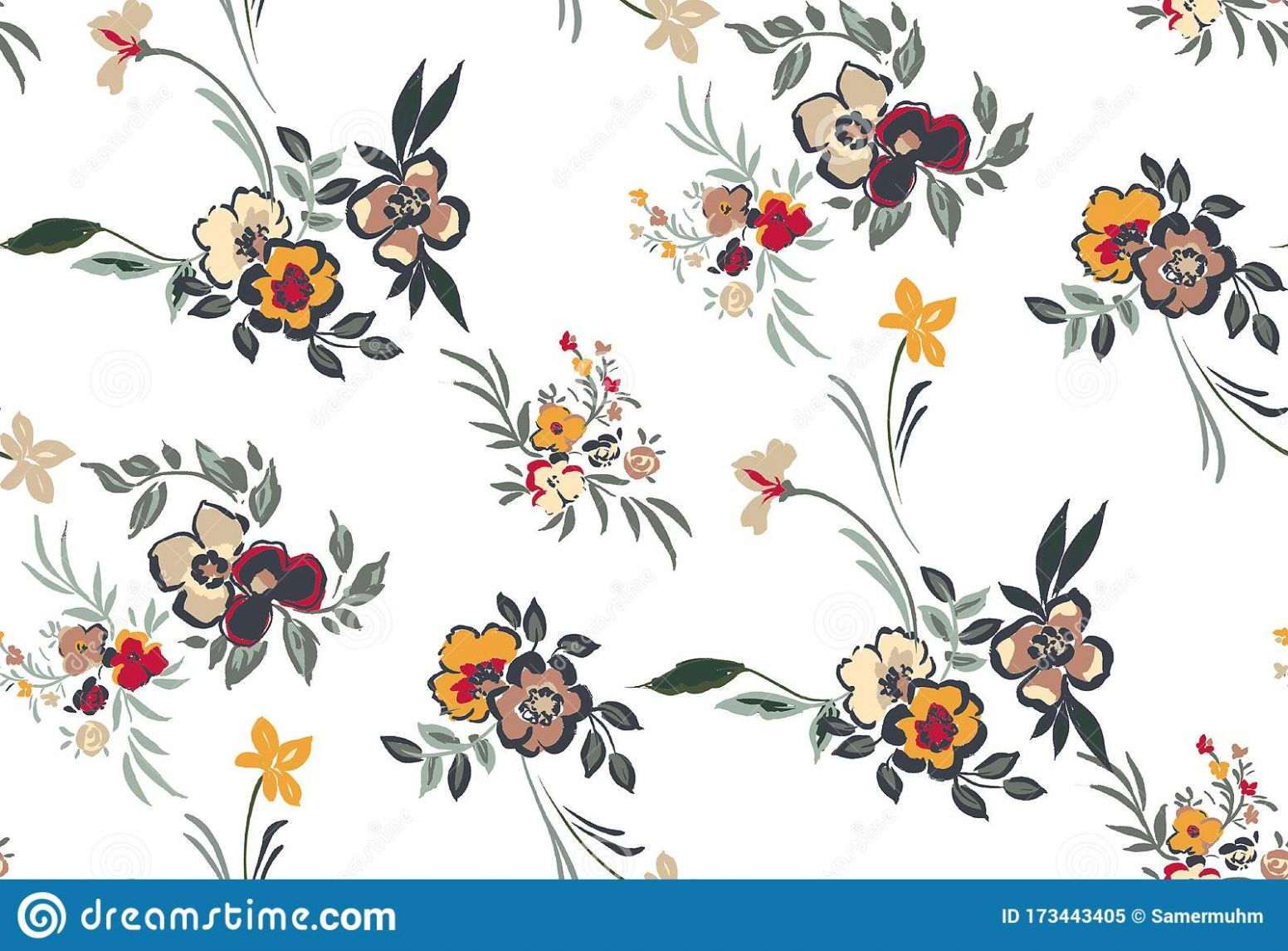Colorful Seamless Floral Pattern. Design For Home Decor, Fabric ..