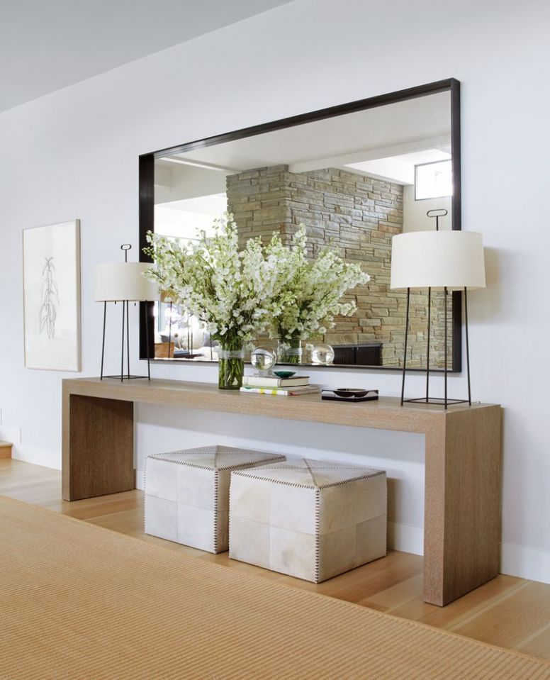 Contemporary Entry and Hall in Southampton, NY by Timothy Whealon ..