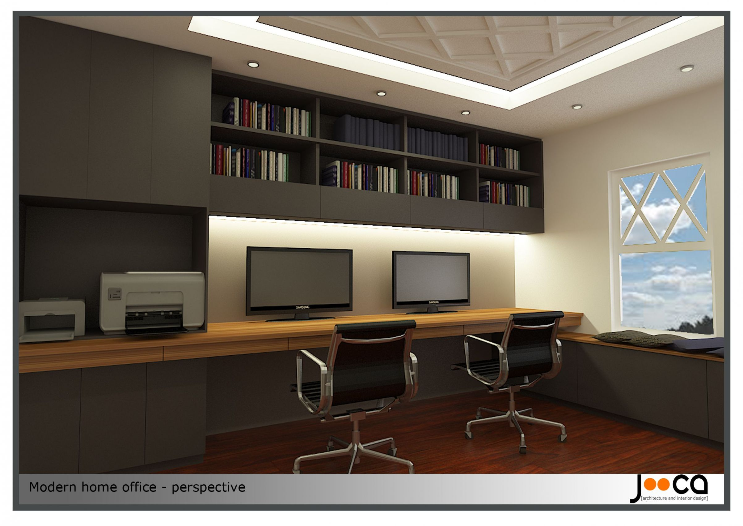 Contemporary Office : Home Office Design Project Designed By Jooca ...