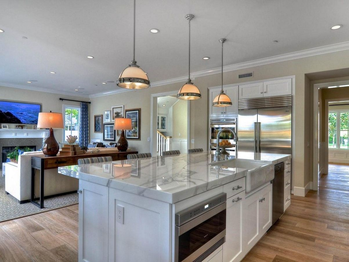 Cool Open Concept Kitchen Island With Sink | Kitchen design open ..