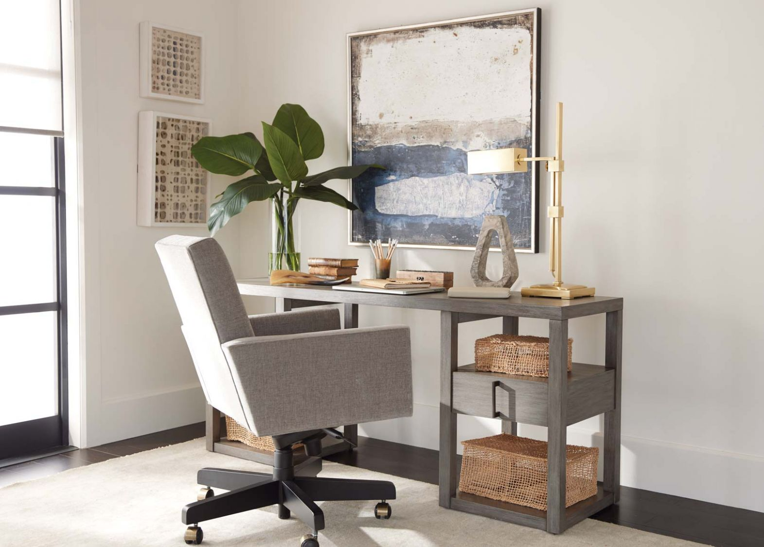 Corner Home Office, Small Space Office Ideas | Ethan Allen Design ...