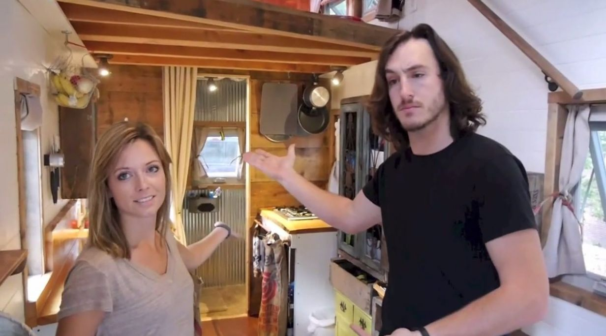 Couple Living and Touring in DIY Tiny Home on Wheels