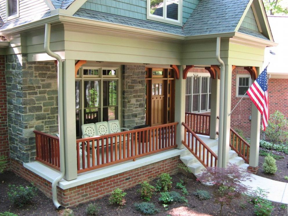 Craftsman Style Front Porch Railings • Porches Ideas